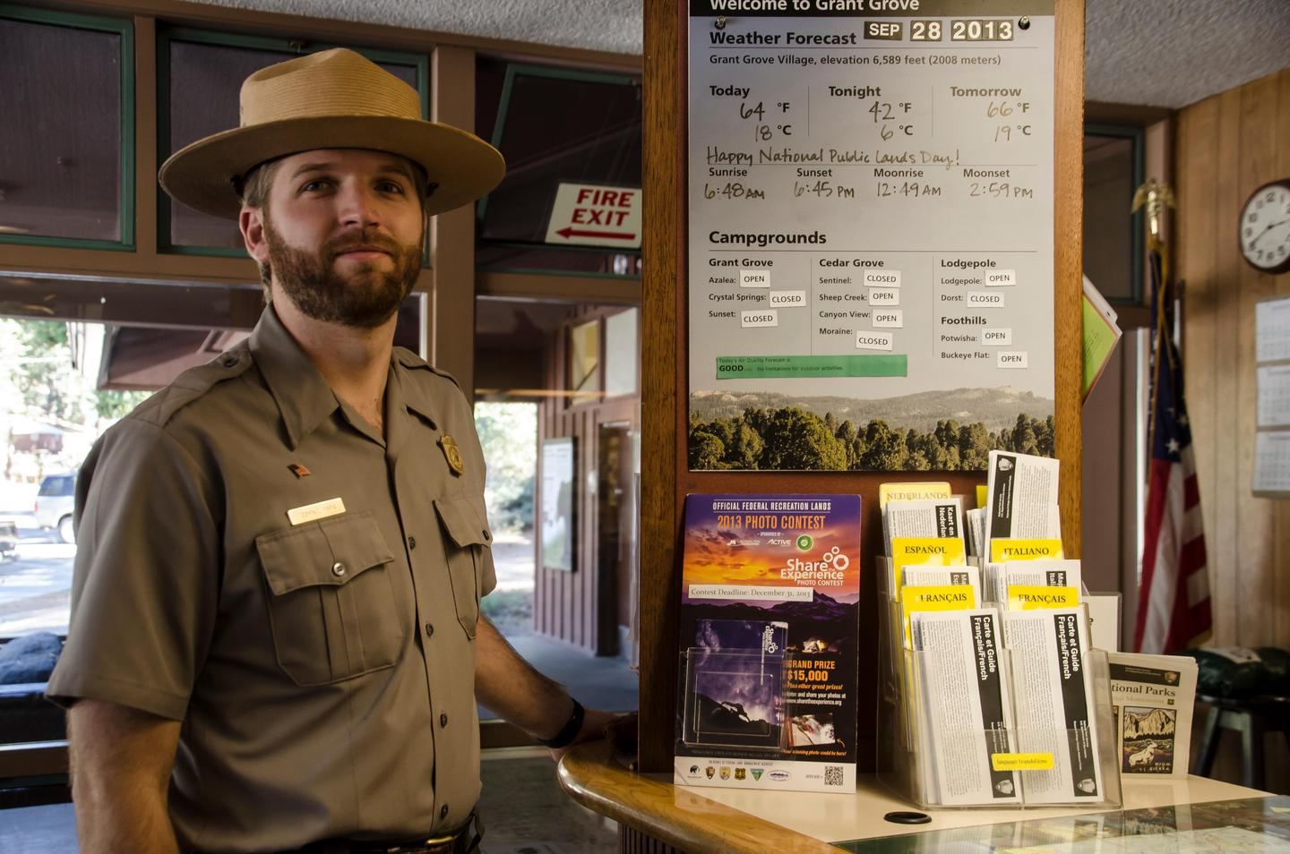 Kings Canyon Visitor CenterHere, you can talk to a ranger and get trip planning information, or obtain a wilderness permit.