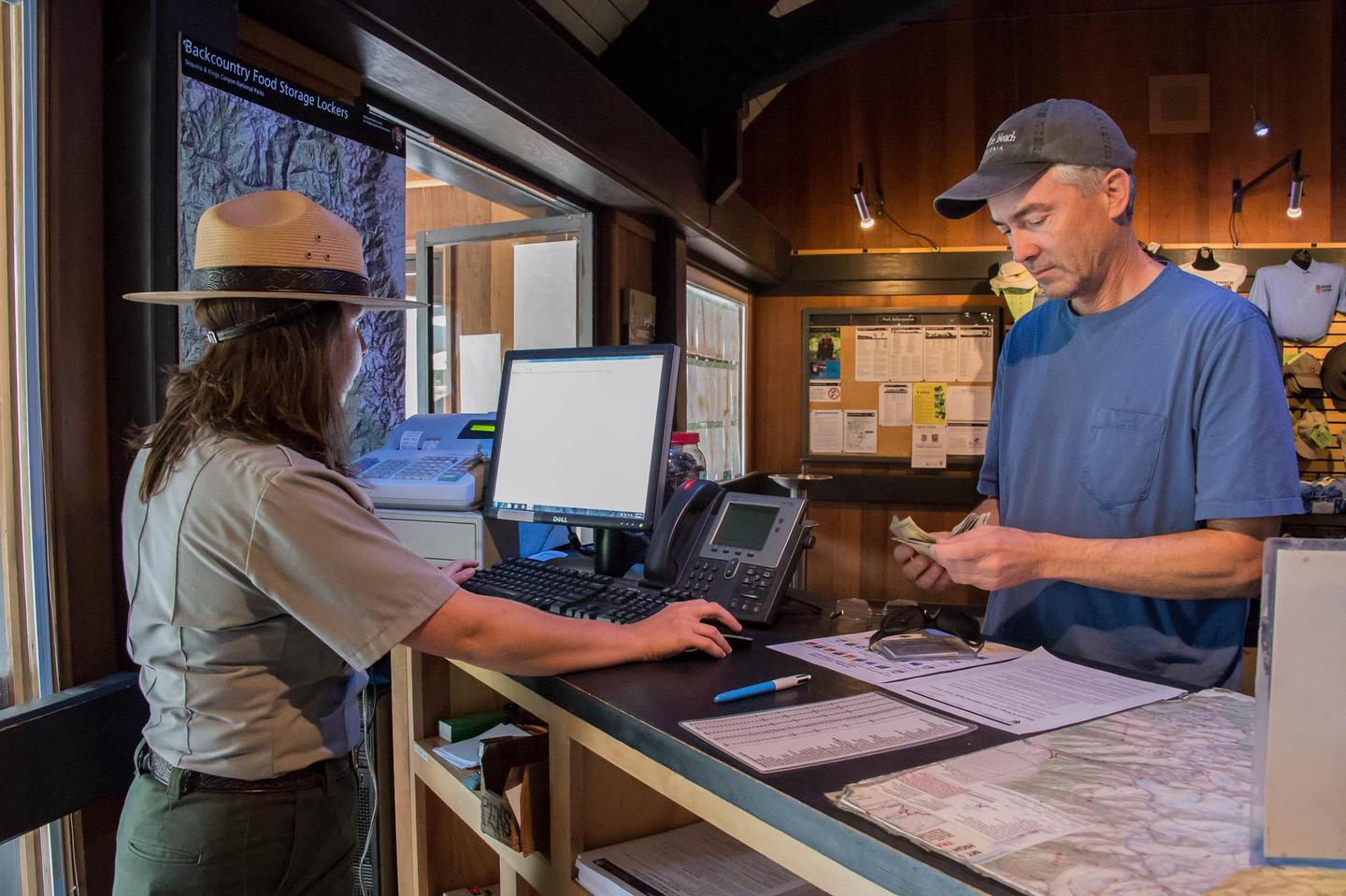 Lodgepole Visitor CenterExhibits, a theater, wilderness permits, and a park store are found at this visitor center.