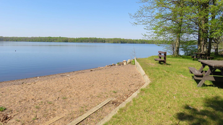 BeachView of the lake from the beach