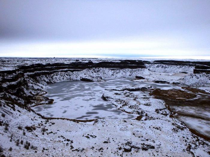 Dry LakesDry Lake lake bed and falls in winter