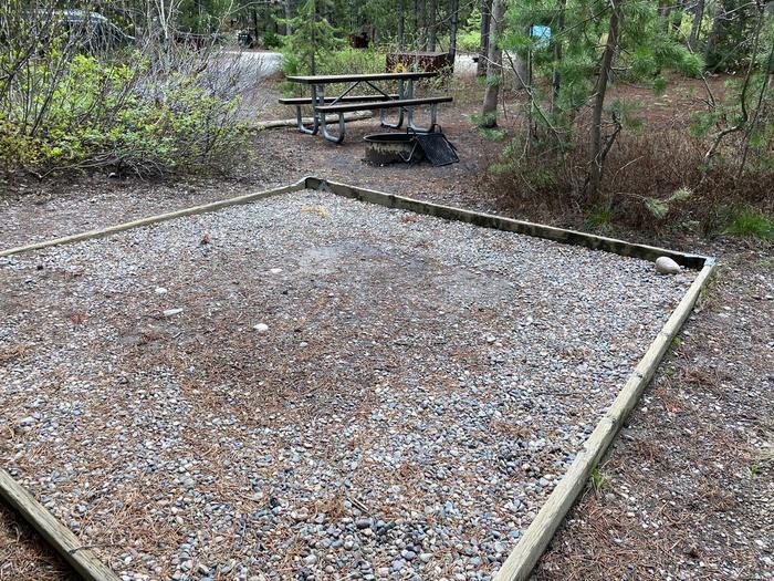 tent pad area