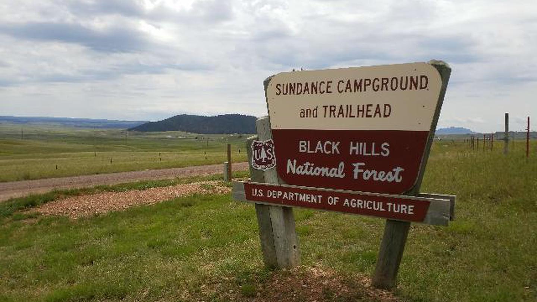 Main Entrance Sign into Sundance CampgroundEntrance Sign going to the Sundance Campground and Trailhead