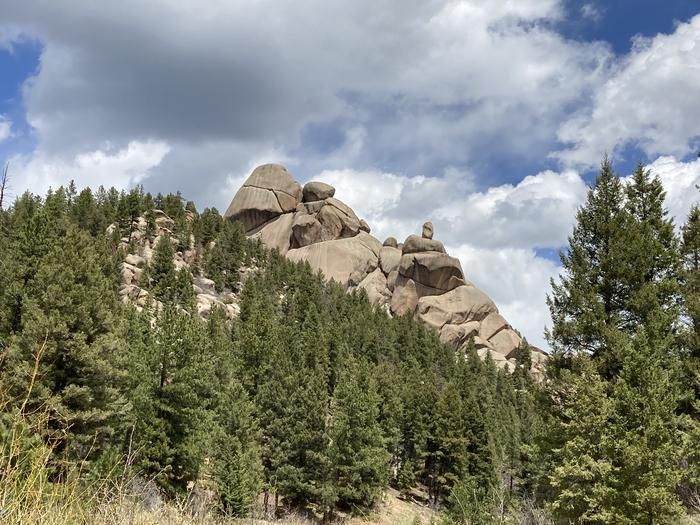 Various rock formations.