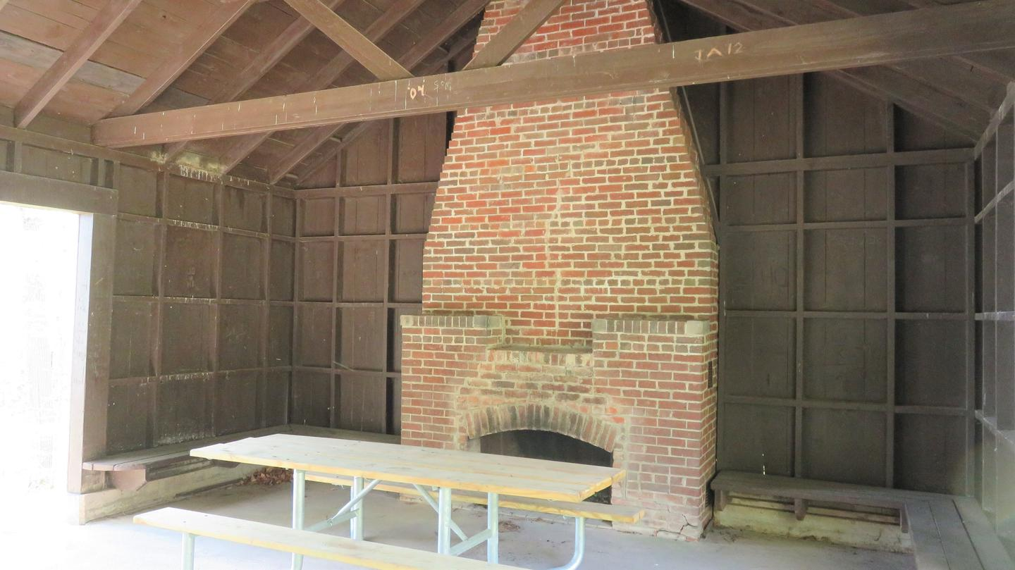 FireplaceOne of the two fireplaces available at the Spearhead Point shelter