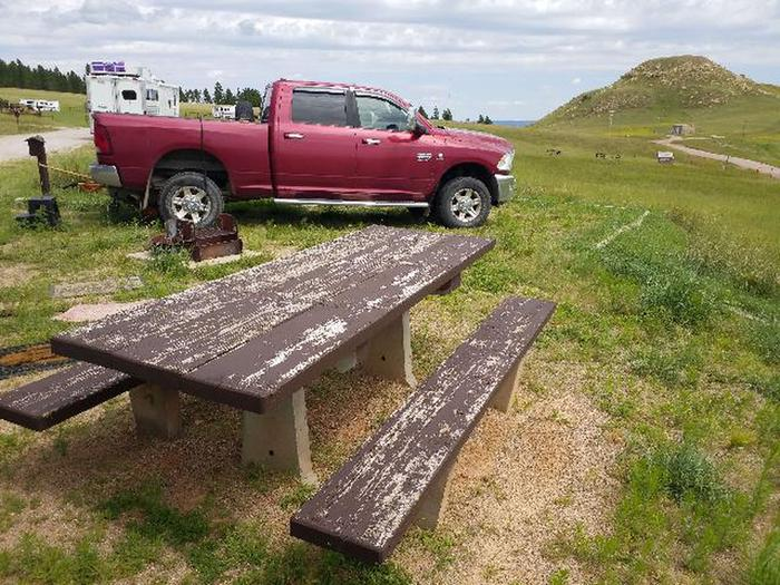 Picnic table at Site 6