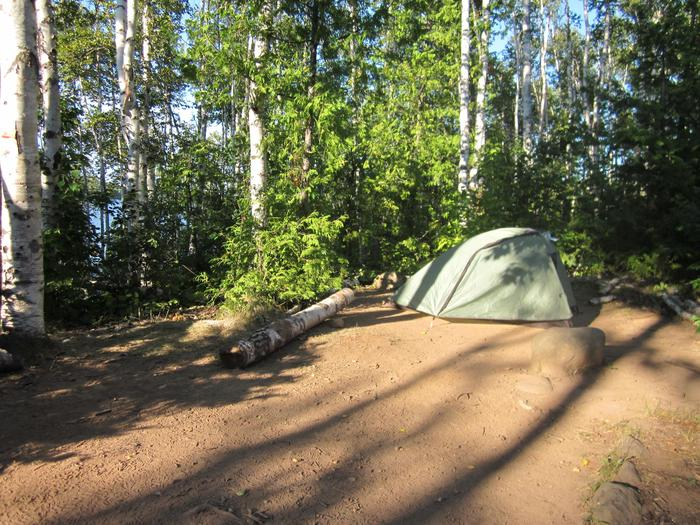 South Desor Campground Tent SiteA tent site at South Desor Campground