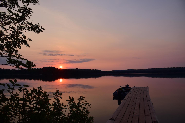 Grace Island Dock at SunsetIsle Royale provides many amazing sunset opportunities.