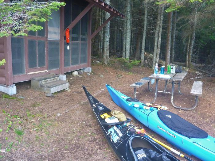 Paddlers at Beaver Island ShelterWhere will your Isle Royale paddles take you?