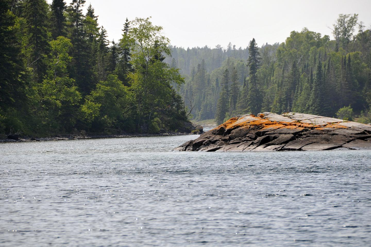 Entrance to Chippewa HarborThe entrance to Chippewa Harbor is located on the south shore of Isle Royale National Park.