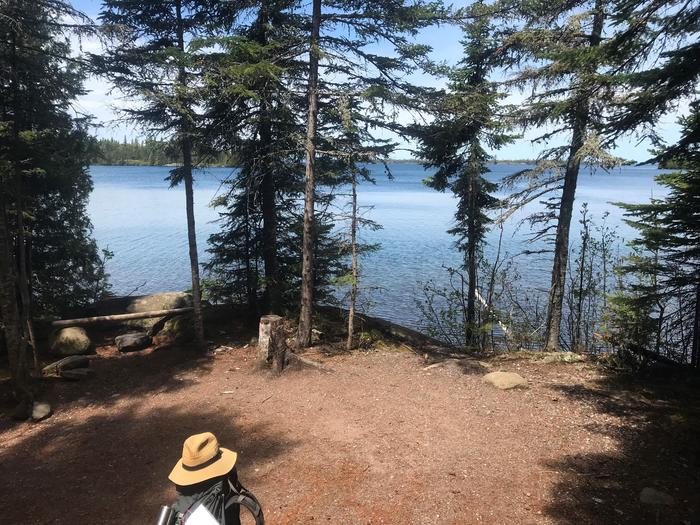 Lane Cove Campground Tent Site #5Lane Cove is one of the few campground on the north side of Isle Royale