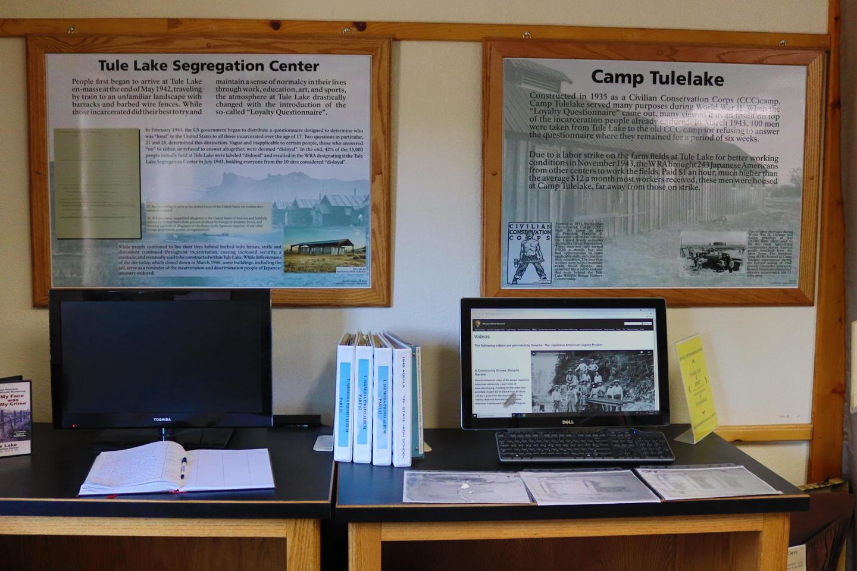 Segregation Center and Camp Tulelake informational boards