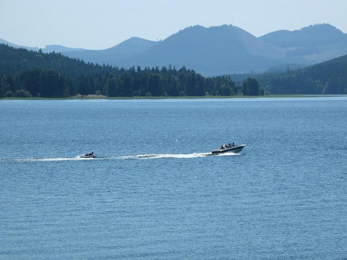 Boat on Cottage Grove Lake Boating on the lake