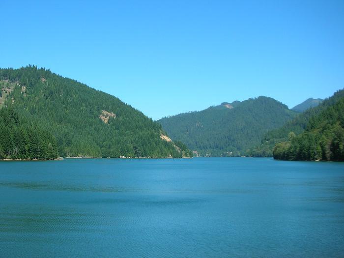 Blue River Lake and hillsBlue River Lake