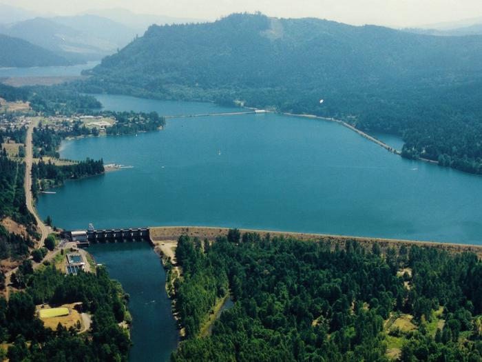 Dexter Lake aerial viewDexter Lake