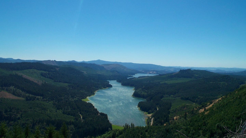 Aerial View of Fall Creek LakeFall Creek Lake