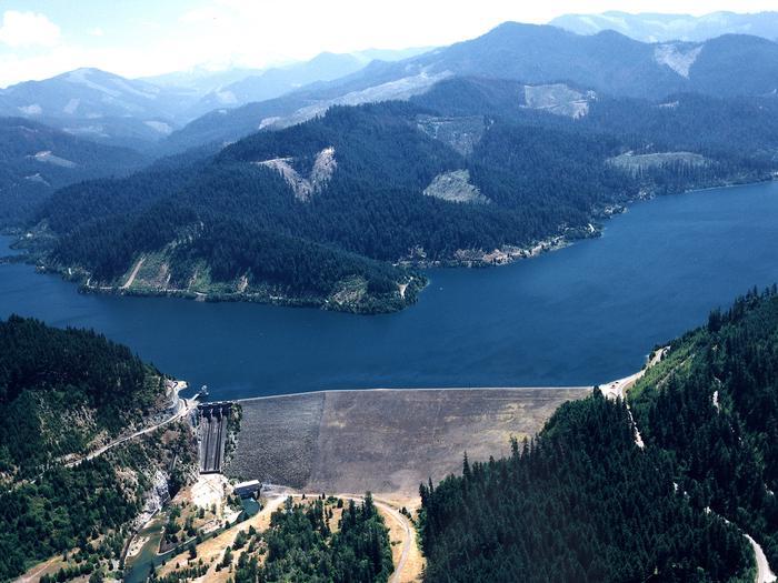 Hills Creek Lake aerial viewHills Creek Lake USACE