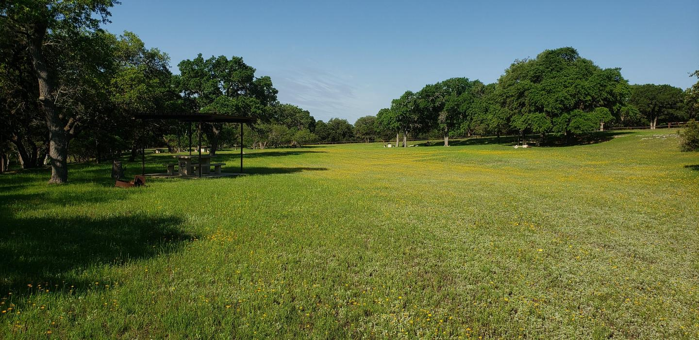 Field in North ParkField is near sites 1 through 6. Great spot to play games with kids or lay out and watch the stars at night.