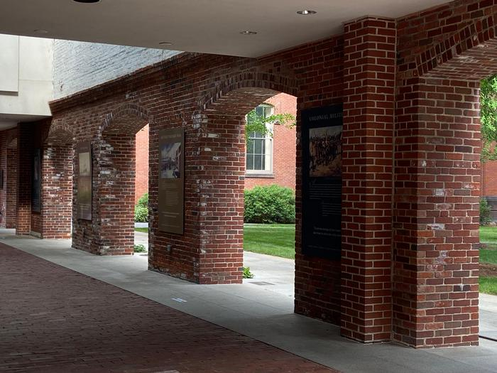Outdoor WalkwayOutdoor walkway leading into the Salem Armory