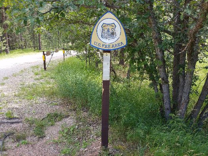 Fee Area SignFee area sign
