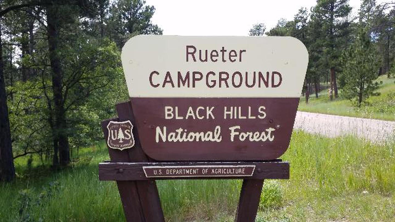 Rueter Campground Sign