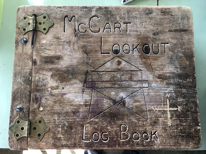McCart Lookout log bookMcCart Lookout log bood