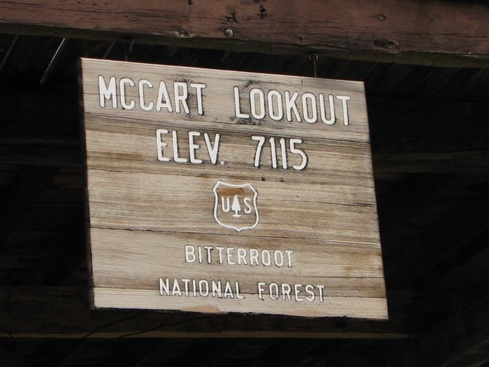 McCart Lookout signsign at McCart Lookout