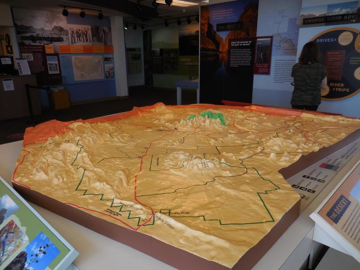 Raised Relief Map of the entire parkChart your course through the rugged landscape of Big Bend