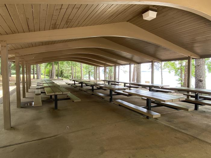 Shelter 2 at Elrod Ferry Recreation Area Close Up
