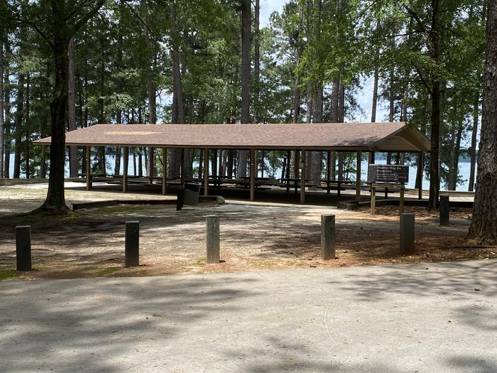 Shelter 1 at Elrod Ferry Recreation Area
