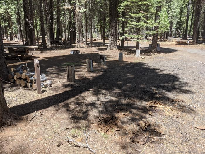 Horse Camp Site 1 ParkingPhoto captures parallel parking of site 1