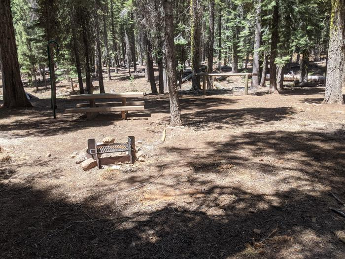 Horse Camp site #8 photo 2Site #8 with fire ring, picnic table, and horse hitch.