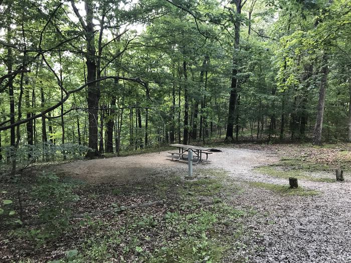 A very nice area just off the road for grilling relaxing or tent