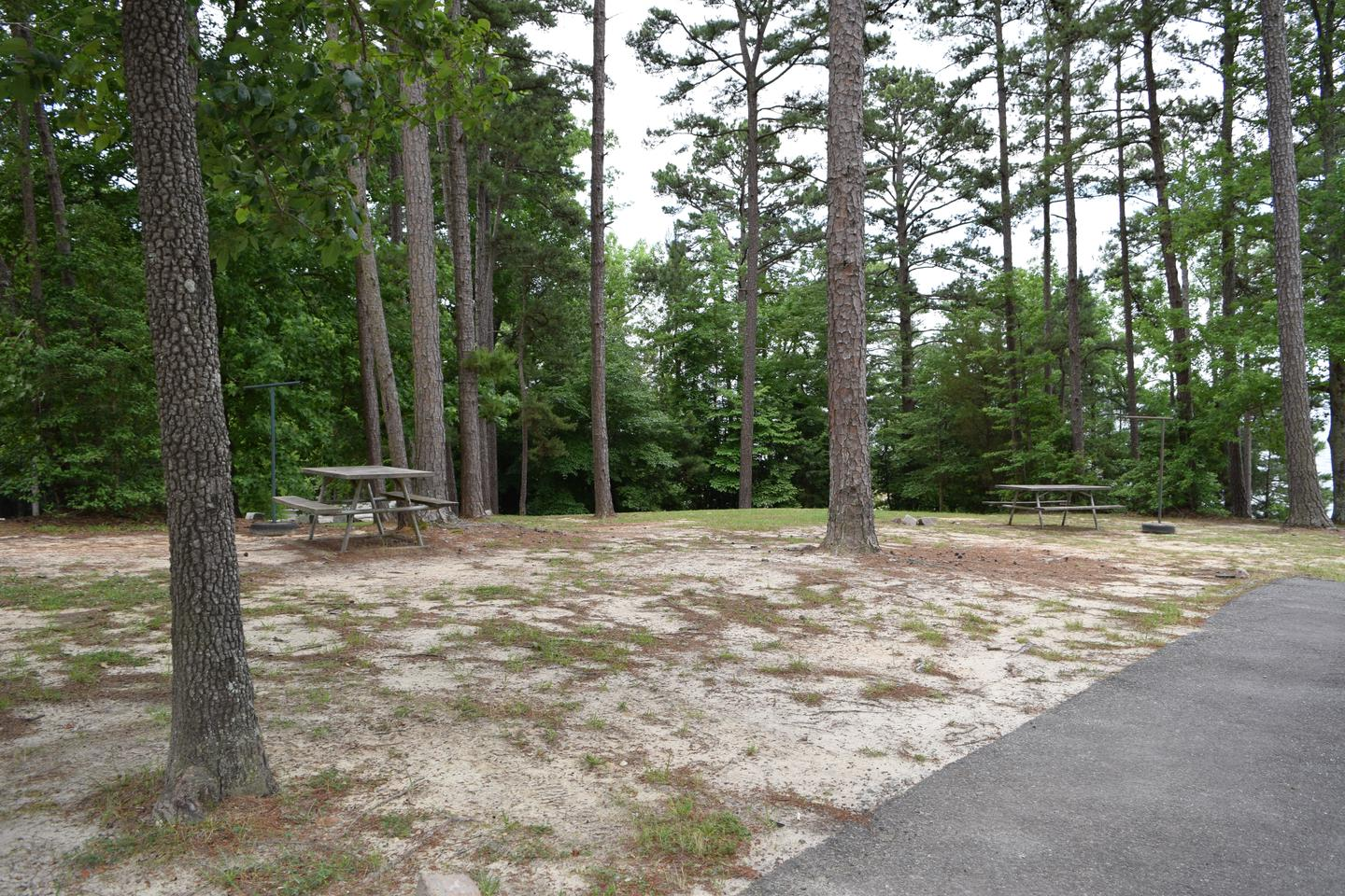 Mays Chapel Group Camping Welcome to Mays Chapel Group Camping Area! This is a picture of some of the picnic tables available in the area. There is no designated areas for tents to set up. Mays Chapel is very open with few trees.