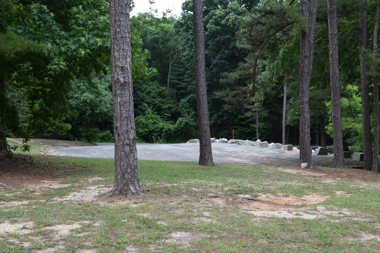 Mays Chapel Group Camping Area Overflow ParkingWelcome to Mays Chapel Group Camping Area! This is a picture of a parking lot located behind the group camping area. This parking lot is designed for people who are using the camping area as well as the beach area.