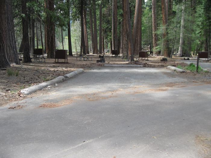 North Pines campground site 402 parking pad
