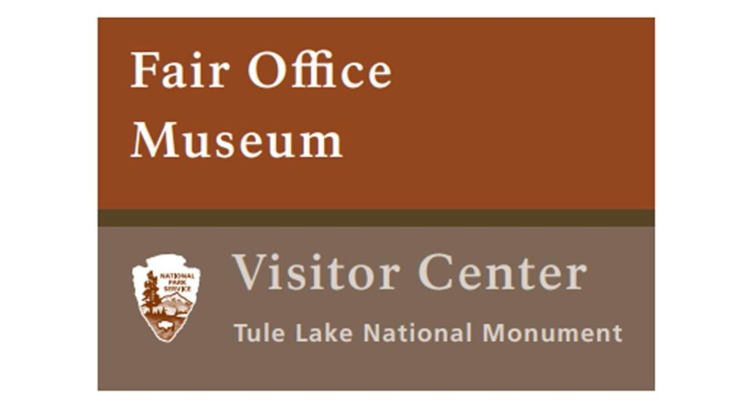 Tule Lake Visitor Center SignEntrance Sign at the Tule Lake National Monument