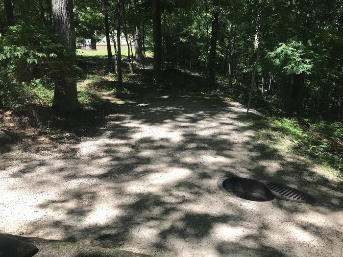 A nice tent pad firing area about 3 inch drop off of the pavement