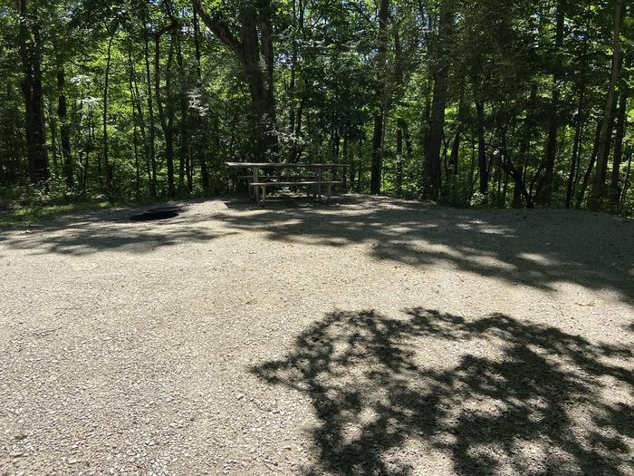 Nice picnic area with campfire overlooking beautiful ravine