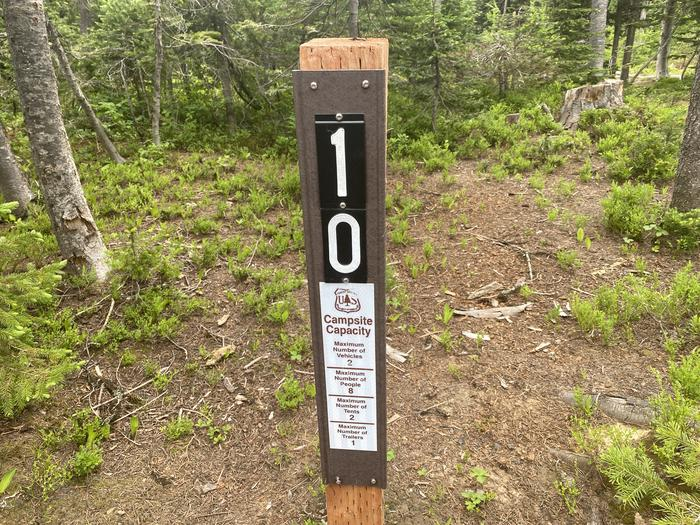 Campsite entrance sign