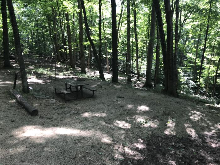 Nice peaceful setting does have some other campsites fairly close so you can have friends and be in the same area