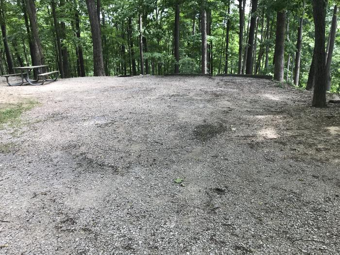 Nice back in gravel site with great Woods views