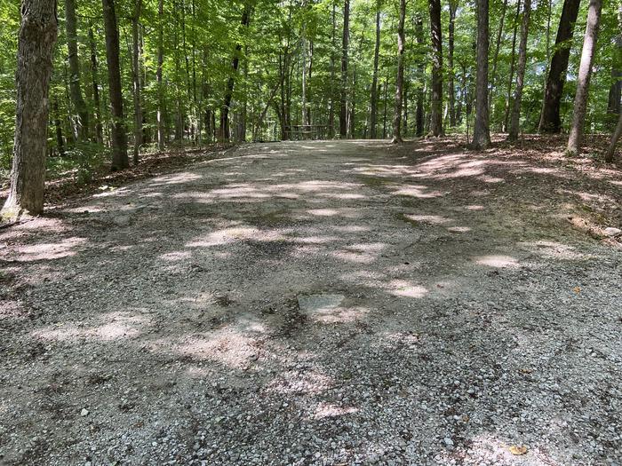 Long parking gravel area
