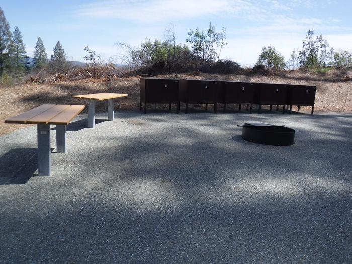 Site 2TBear boxes, tables and fire ring
