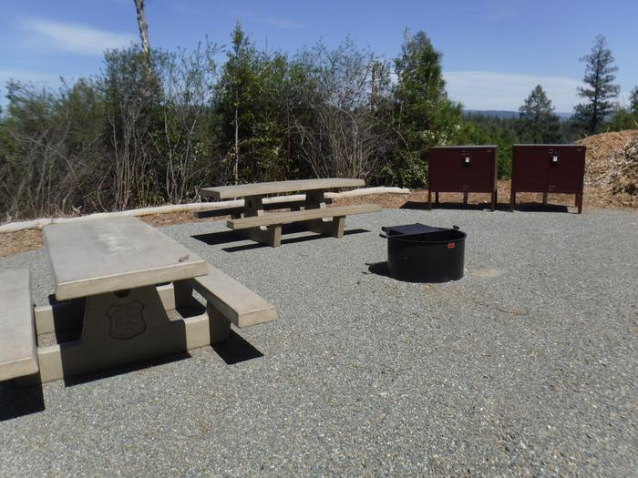 Site 3 Double2 tables, 2 bear boxes and fire ring