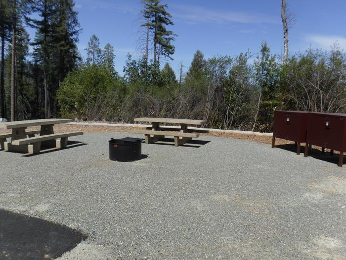 Site 3DTables, bear boxes and fire ring