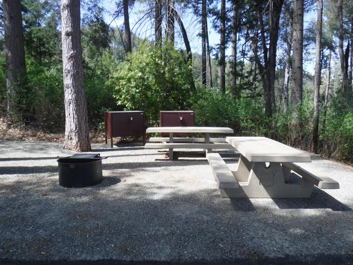 Site 5DTwo bear boxes, 2 picnic tables and fire ring