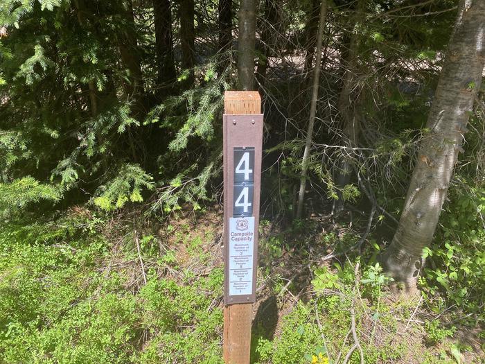 Campsite #44 Sign