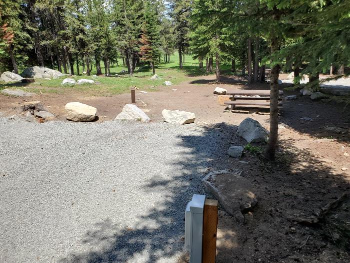 Site 3 picnic tableSite 3
