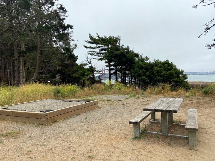 Site 2 with the golden gate bridge in the backgroundSite 2 in July, with a view of the Golden Gate Bridge.