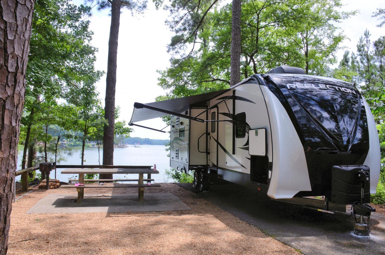 Campsite view.Victoria Campground, campsite 25